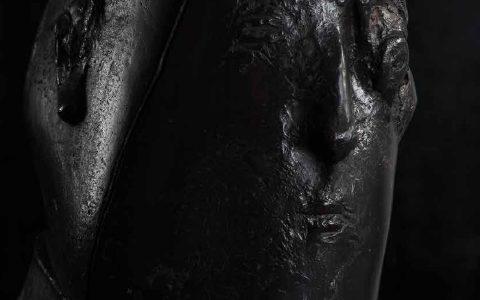 Head I bronze 50x40x40 cm