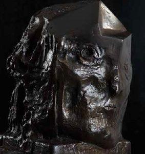 Head III bronze 50x40x40 cm