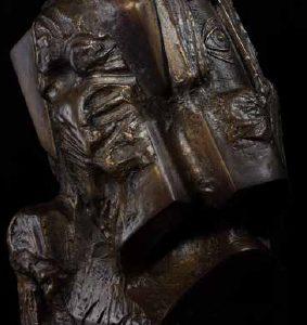 Head VI bronze 50x40x40 cm