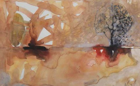 The Tree I watercolor 50x70 cm