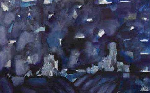 Landscape IV watercolor 50x70 cm